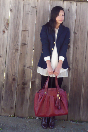 Ralph Lauren blazer - modcloth purse - Coasters boots