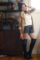 emanuel ungaro blouse - DSW boots - Nordstrom Rack coat