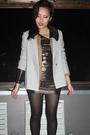 Forever-21-dress-laredo-boots-vintage-blazer