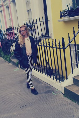 Primark sweater - creepers shoes - vintage jacket - Primark bag - H&amp;M pants