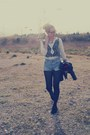 Creepers-shoes-vintage-jacket-levis-shorts-zara-sweatshirt