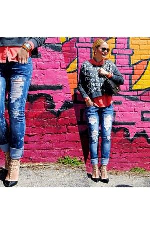 MINE shirt - Miss Sixty jeans - HOMIES sweatshirt