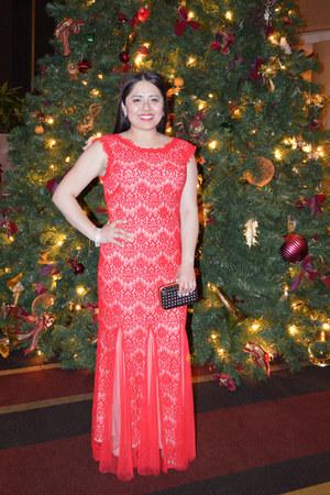 Tiffany & Co ring - Betsy & Adams dress - Anne Klein coat - Nordstrom bag