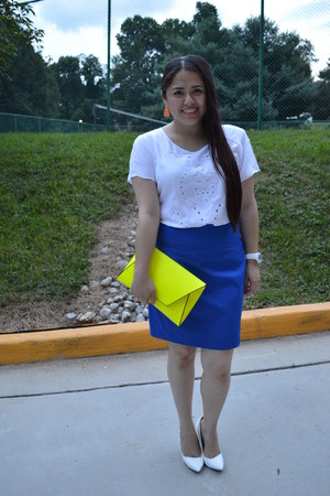Express skirt - Marshalls skirt - Marshalls shirt - Zara bag - Zara pumps