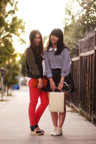 Zara jacket - H&M skirt - vintage top