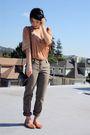 Bcbg-pants-language-top-ecote-shoes-vintage-bag