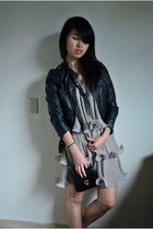 H&M jacket - H&M dress - vintage - f21 necklace