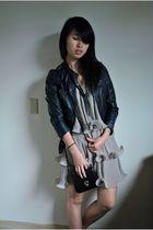 H&M jacket - H&M dress - vintage - f21 necklace