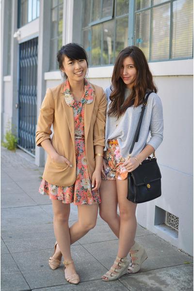 Sugarlips dress - Dinodirect shorts - Zara sandals - f21 top