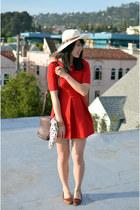 Zara dress - vintage bag