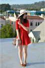 Zara-dress-vintage-bag