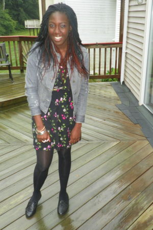gray Old Navy jacket - black Report shoes - black dress