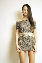 beige leopard mini dress dress