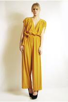 gold vintage 70s pants