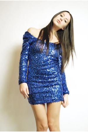blue vintage 90s dress coat