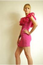 pink vintage 80s dress