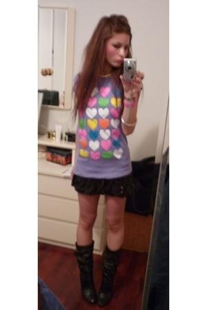 Terranova t-shirt - maner skirt - Fornarina shoes
