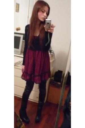 Zara blouse - Zara dress - Zara leggings - castaner shoes