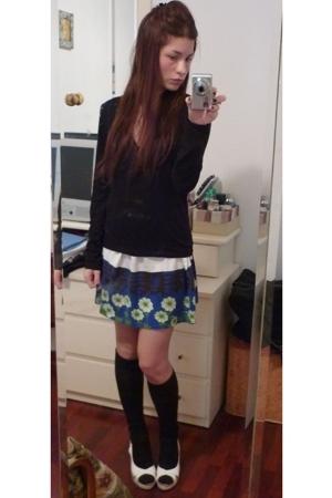 Zara sweater - Zara skirt - Calzedonia skirt - espadrilles shoes