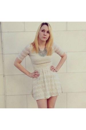 ivory rewind dress