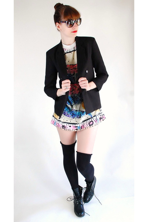blazer - shirt - boots