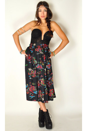 black Wicked Plum Vintage skirt
