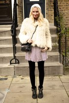 red pleated skirt JW Anderson skirt - black Isabel Marant boots - white FWSS hat