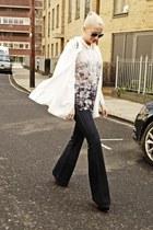 H&M top - J Brand jeans - acne shirt - Chanel bag