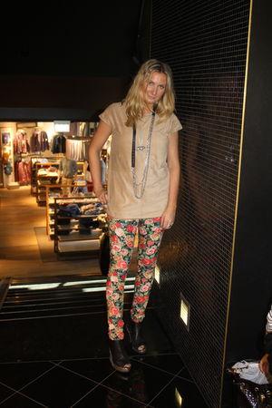 red H&M pants - orange Zara top - black J Dauphin necklace - black Camilla Prytz