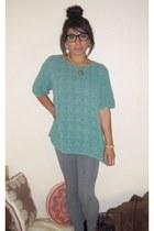aquamarine thrifted sweater - heather gray Target leggings
