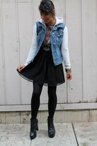 LAMB hoodie - dress - denim DIY vest