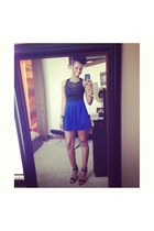 blue H&M skirt - black Urban Outfitters top
