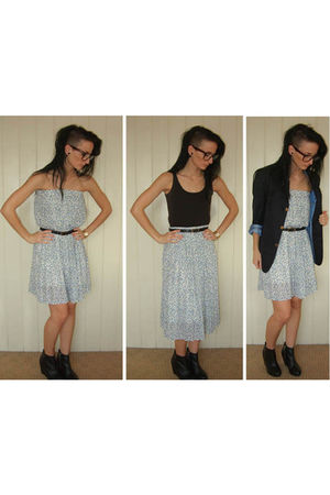 blue Thrift Store skirt - black Thrift Store blazer