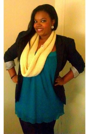 blazer Heritage blazer - Forever 21 scarf - retro Forever 21 skirt