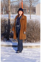 navy Style & Co jeans - camel alpaca wool hilary radley coat