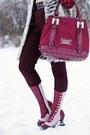Brick-red-polka-dot-joe-fresh-blouse-light-pink-fluevog-boots