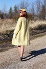 Light-yellow-mohair-vintage-coat-silver-fluevog-shoes