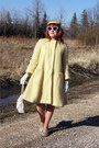 Silver-fluevog-shoes-light-yellow-mohair-vintage-coat