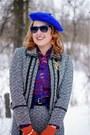Magenta-leather-danier-bag-blue-forever-21-blouse