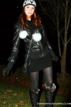 ringo starr COUGAR boots - Hayden Cashmere dress - Marioche hat - Mackage jacket