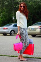 kate spade bag - J Brand jeans - Gap sweater - kate spade sunglasses