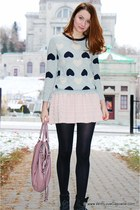 JCrew sweater - Manolo Blahnik boots - coach bag - BCBG skirt - Pandora bracelet