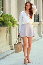 kate spade bag - J Crew heels - Club Monaco blouse - Club Monaco skirt