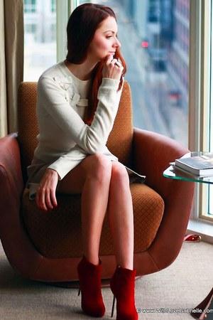 Aldo heels - Juicy Couture sweater - YSL ring - Club Monaco skirt