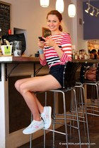 Jones New York shirt - talula babaton shorts - Tretorn sneakers