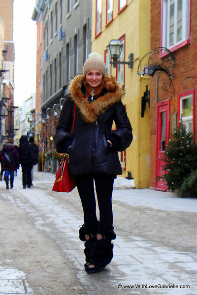 Mackage jacket - Manitobah Mukluks boots - Ugg Australia hat - Marc Jacobs bag