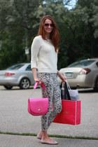 kate spade purse - J Brand jeans - Gap sweater - kate spade sunglasses