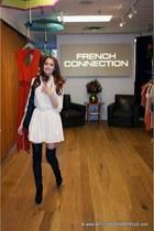 wilfred dress - La Bacarrina boots - Gustto bag
