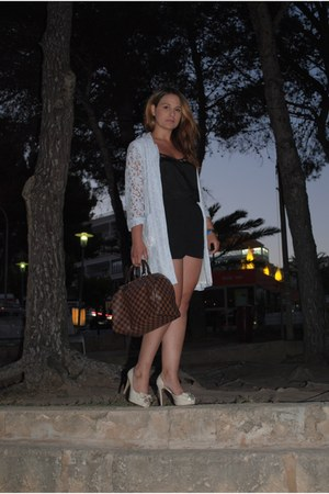 River Island blazer - Louis Vuitton bag - Miss Selfridge shorts