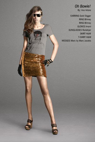 gray H&M t-shirt - H&M skirt - Marc by Marc Jacobs shoes - black Imoni gloves -